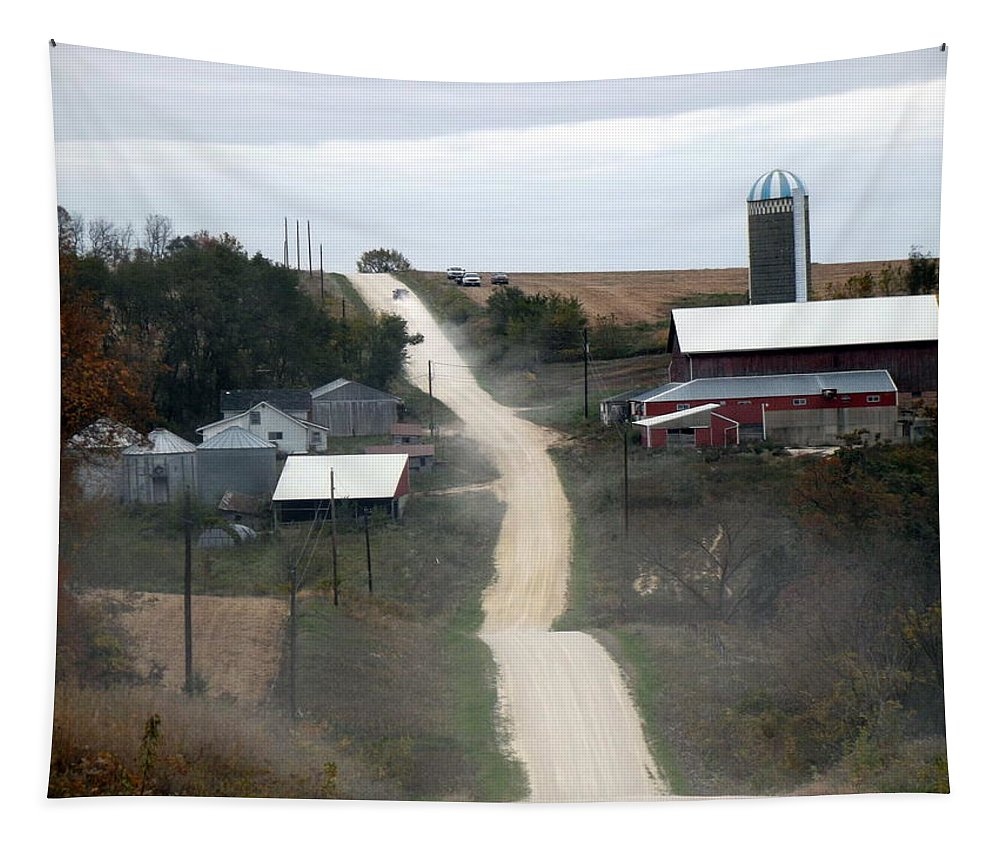 Dirt Road Tapestry featuring the photograph Dirty Road by Bonfire Photography