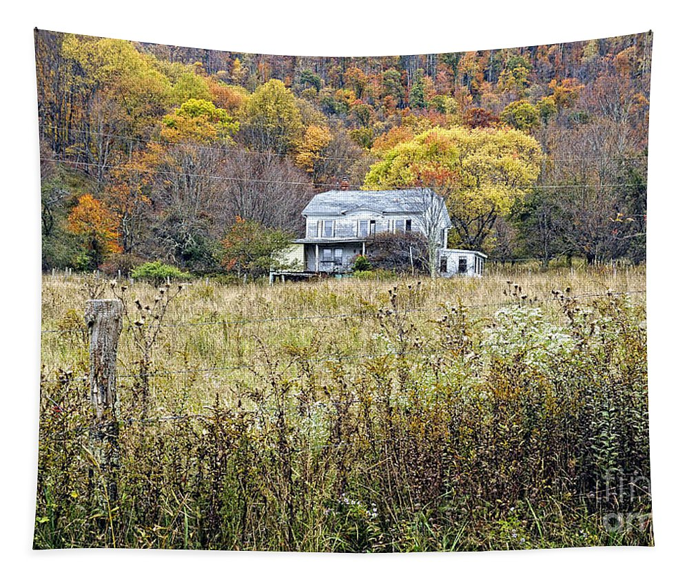 West Virginia Tapestry featuring the photograph Down In A West Va Valley by Kathleen K Parker