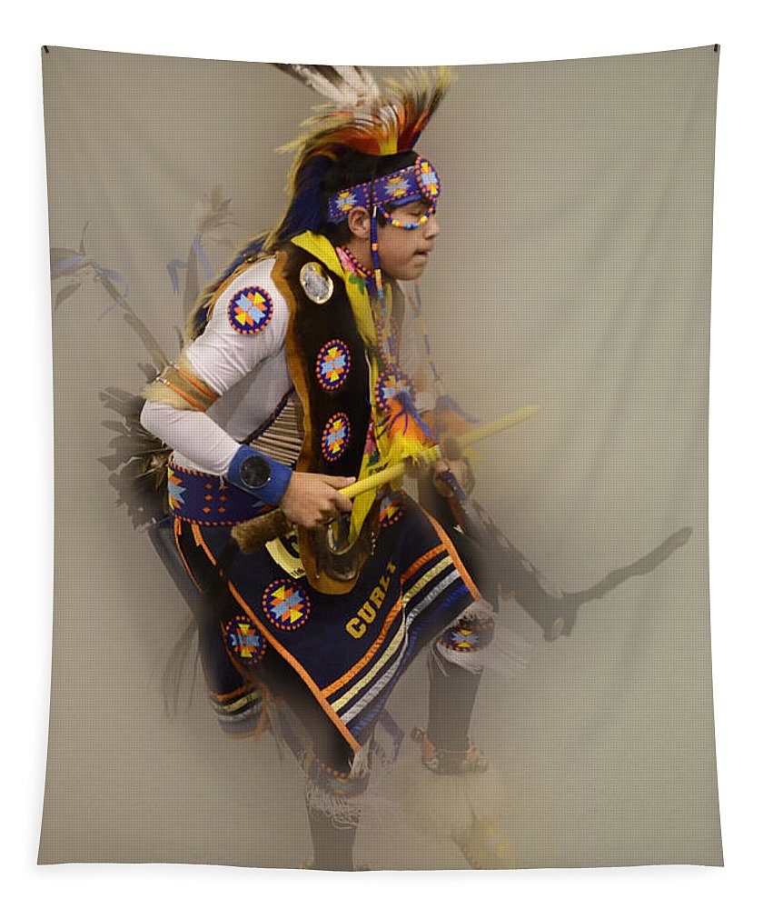 Pow Wow Tapestry featuring the photograph Pow Wow Dream Time by Bob Christopher