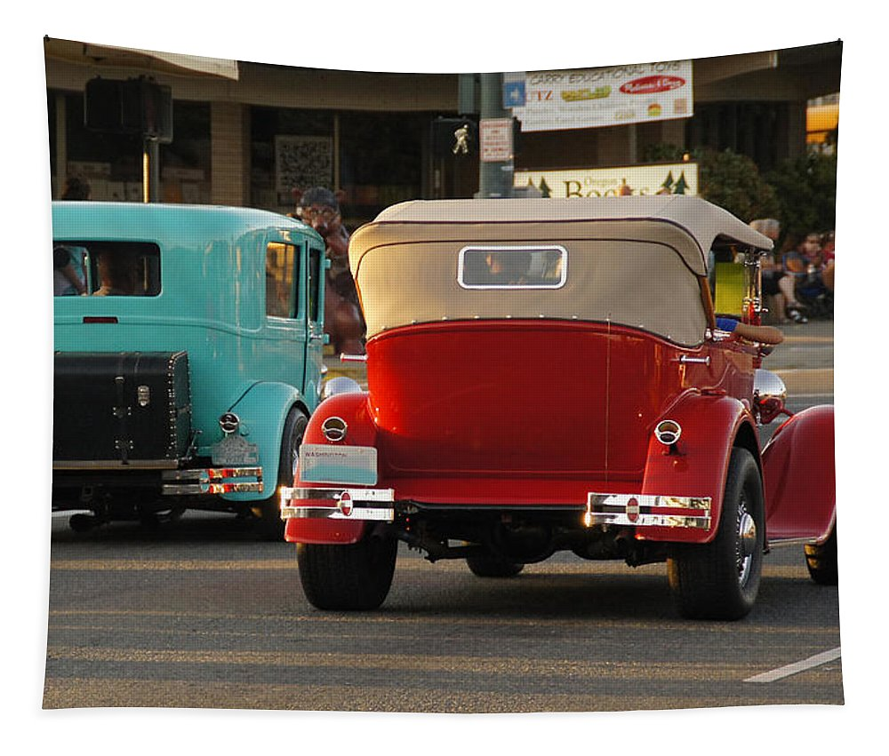 Driving Tapestry featuring the photograph Driving Off Into History by Mick Anderson