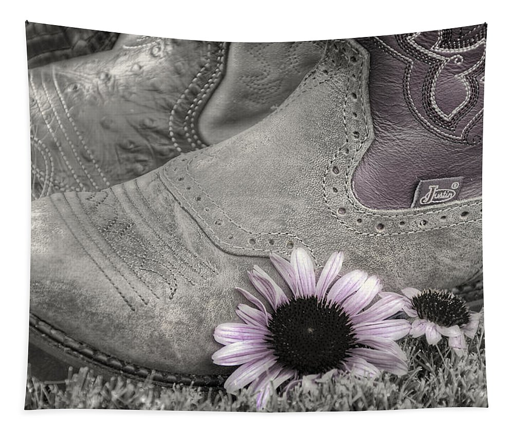 Clothing Tapestry featuring the photograph Dusky Megaboots by Joan Carroll