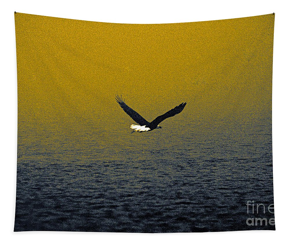 Bald Eagle Tapestry featuring the photograph Eagle Haze by Mitch Shindelbower