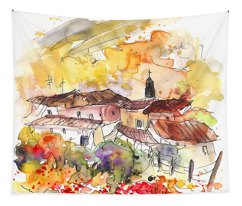 Travel Tapestry featuring the painting El Alcornocal 06 by Miki De Goodaboom