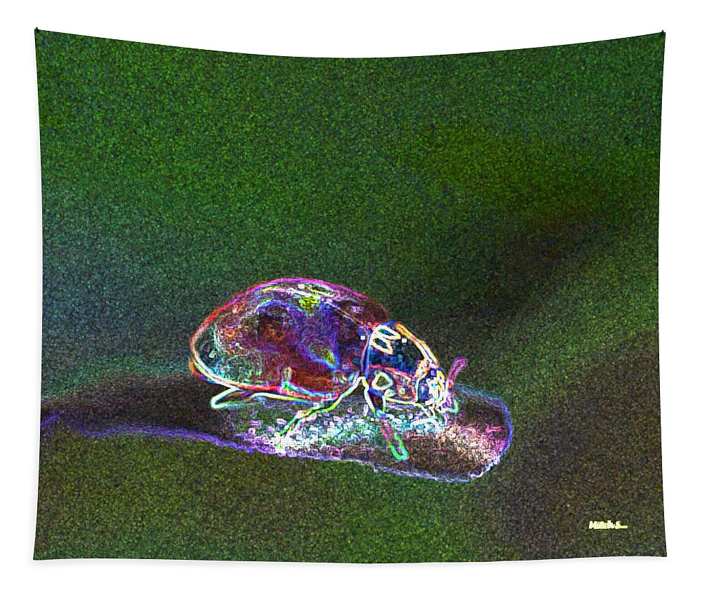 Electric Ladybug Tapestry featuring the photograph Electric Ladybug by Mitch Shindelbower