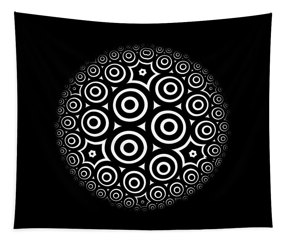 Escher Tapestry featuring the digital art Escher Disc 2 by Hakon Soreide