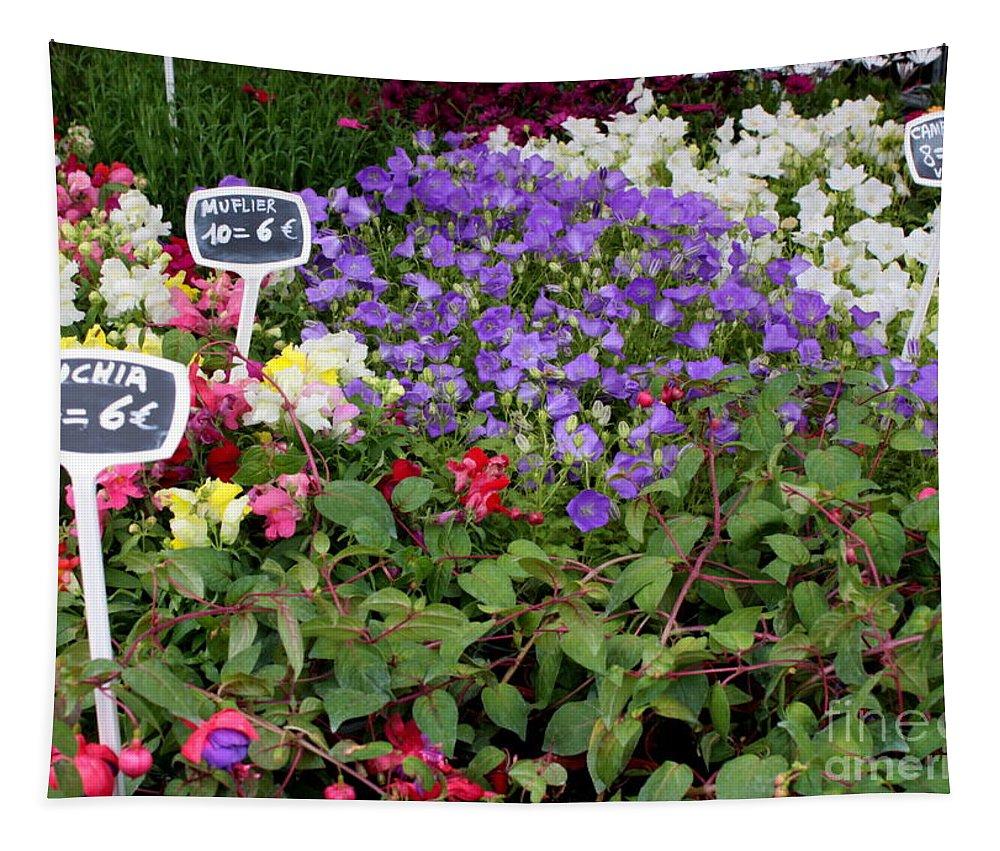 Flower Markets Tapestry featuring the photograph European Markets - Fuchsias by Carol Groenen