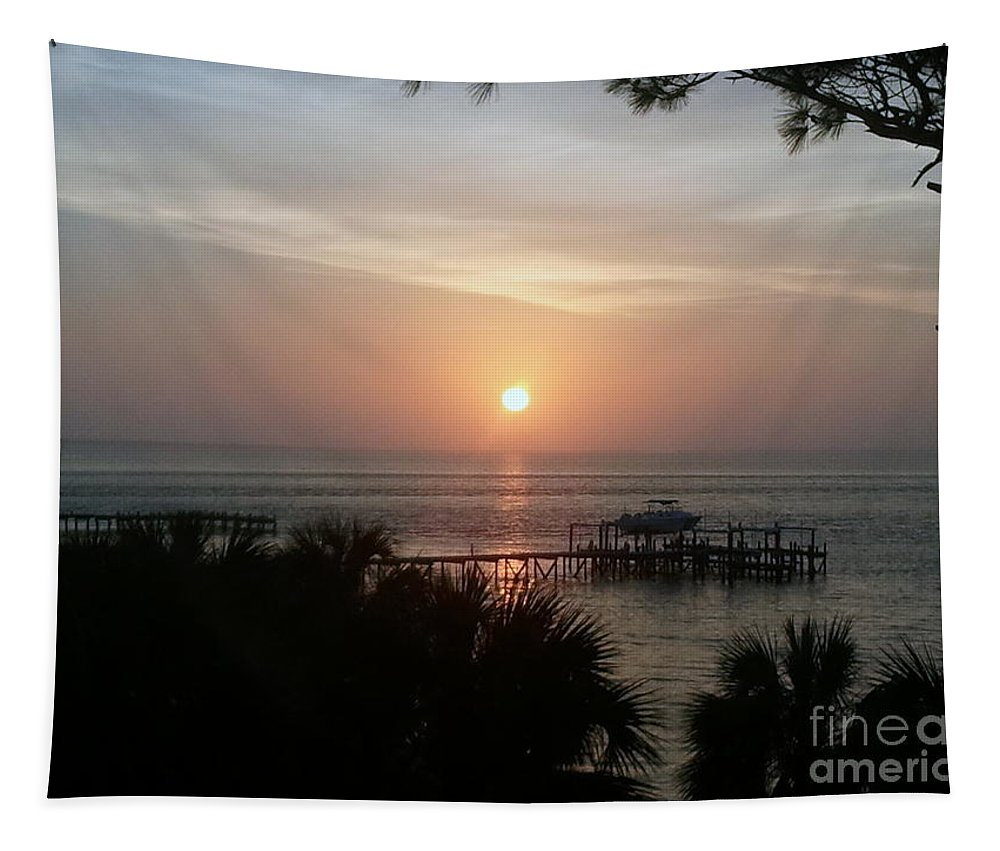 Sunset Tapestry featuring the photograph Evening Sail by Paul Wilford