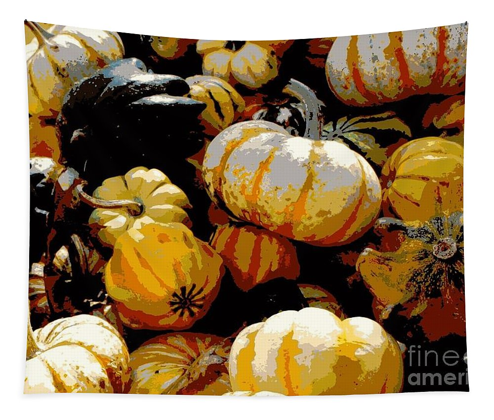 Fall Vegetables Tapestry featuring the photograph Fall Bounty by Carol Groenen