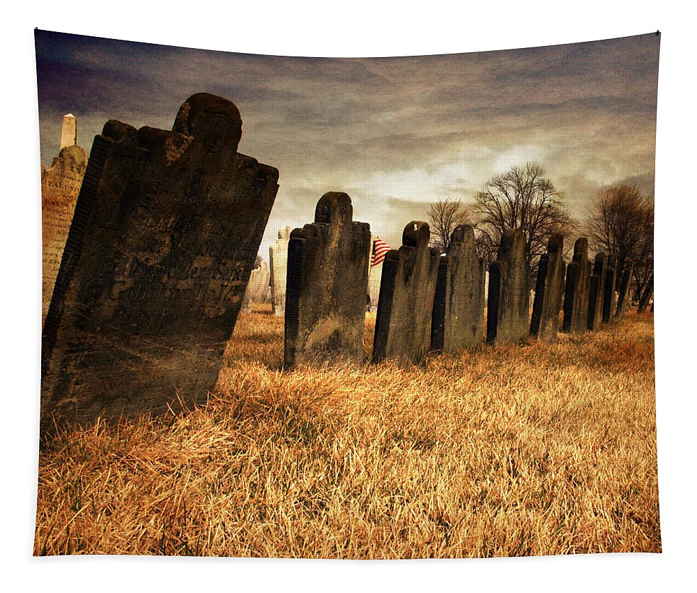 Tomb Stone Tapestry featuring the photograph Fallen Comrades Of The Civil War by Paul Ward