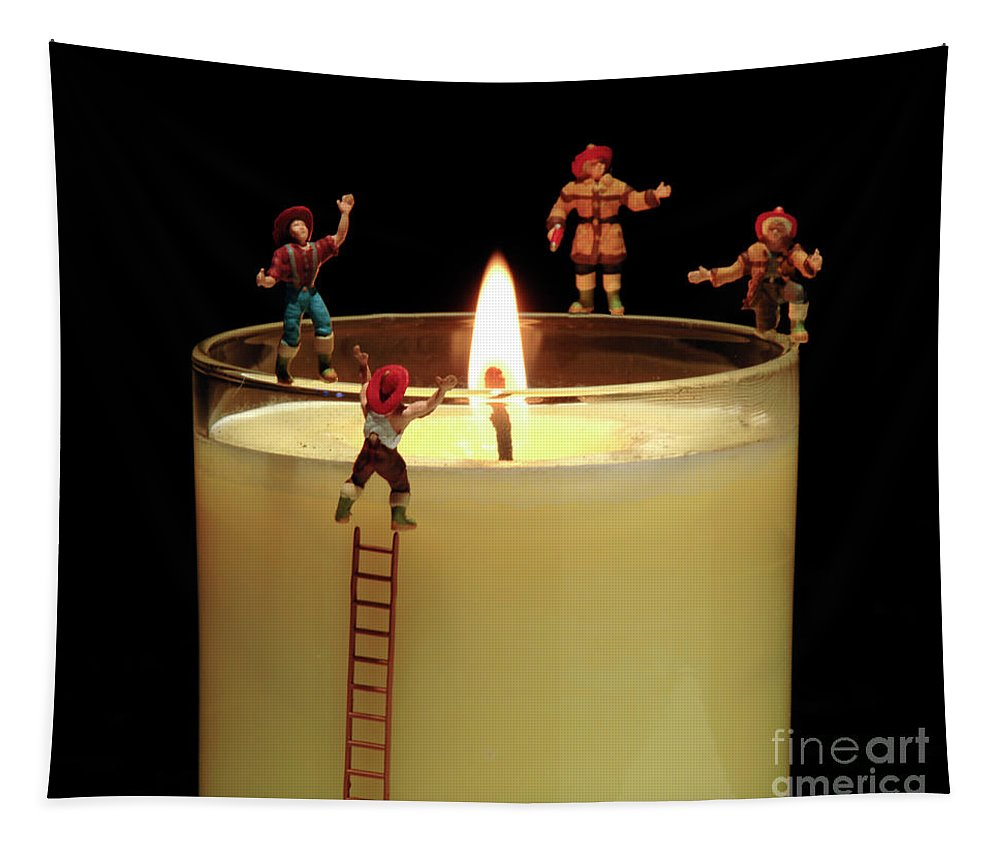 Fun Tapestry featuring the photograph False Alarm by Bob Christopher