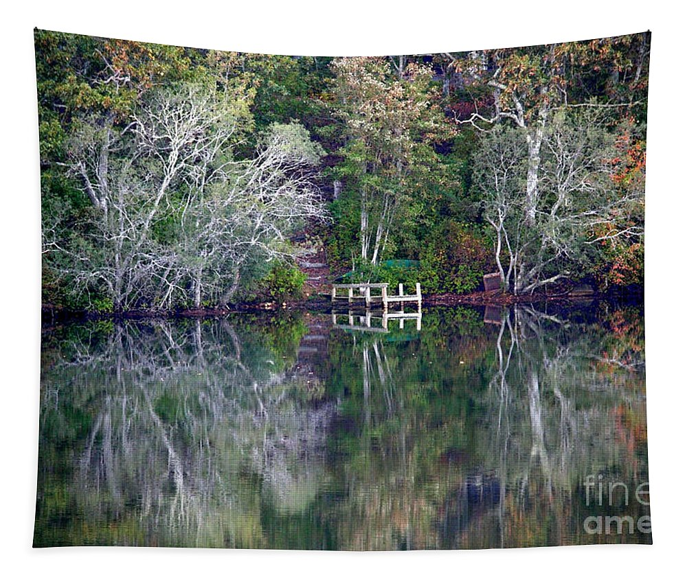 Fall Tapestry featuring the photograph Farewell To Summer - Digital Painting by Carol Groenen