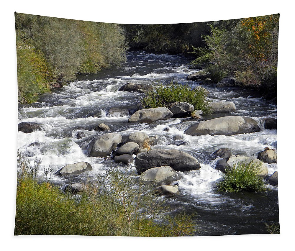 Kayak Tapestry featuring the photograph Feather River White Water by Frank Wilson