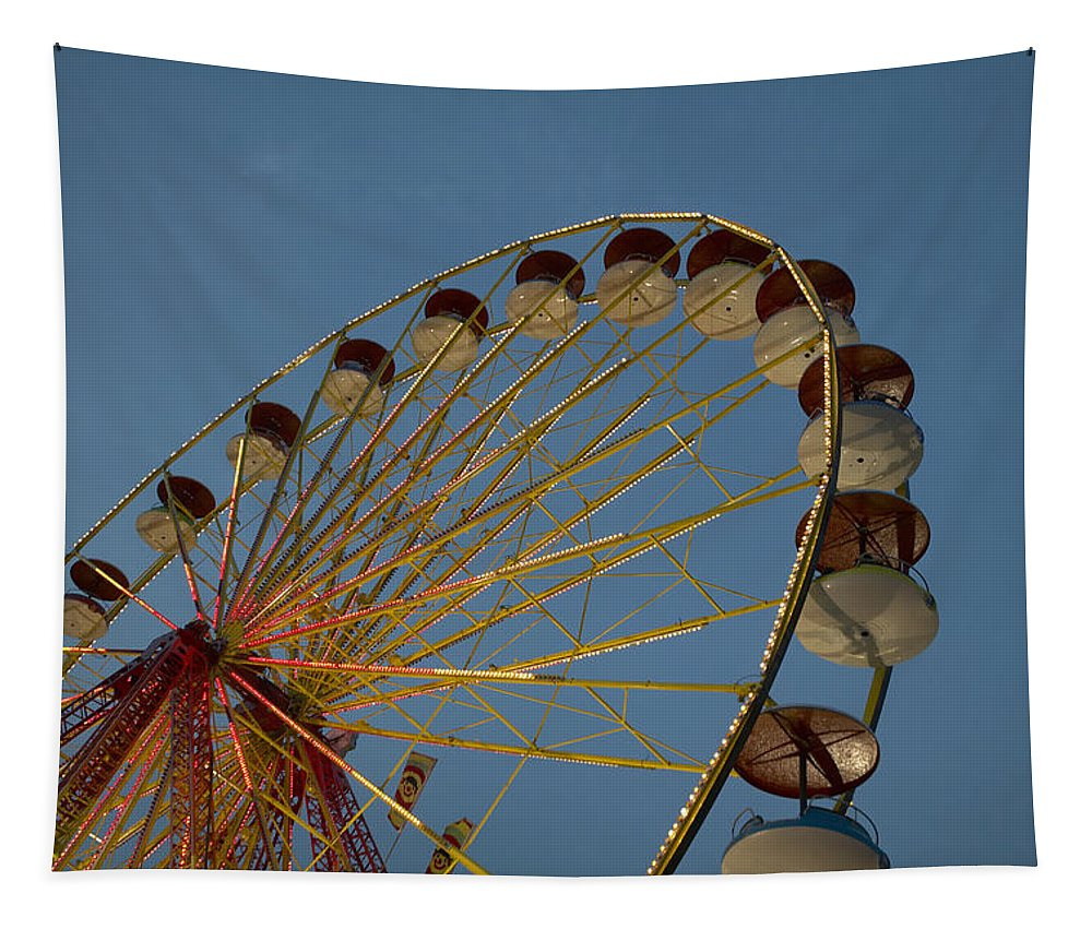1 Object Tapestry featuring the photograph Ferris Wheel by Huy Lam