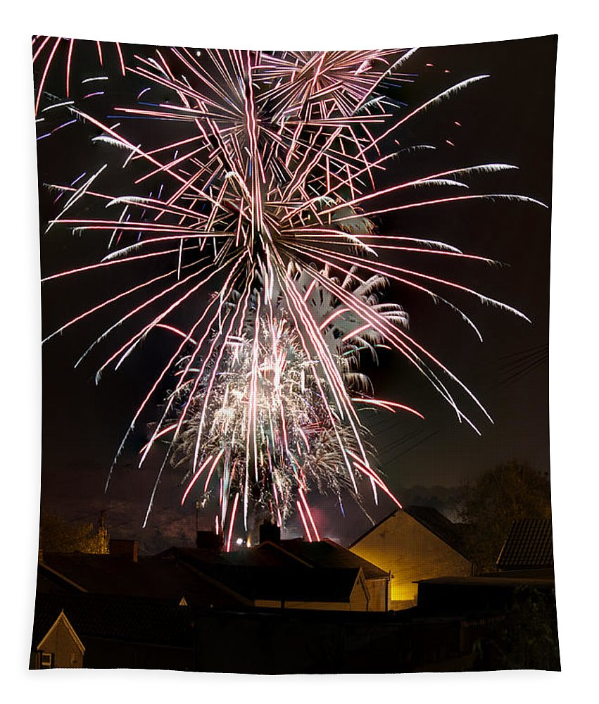 Fireworks Tapestry featuring the photograph Fireworks 2 by Steve Purnell