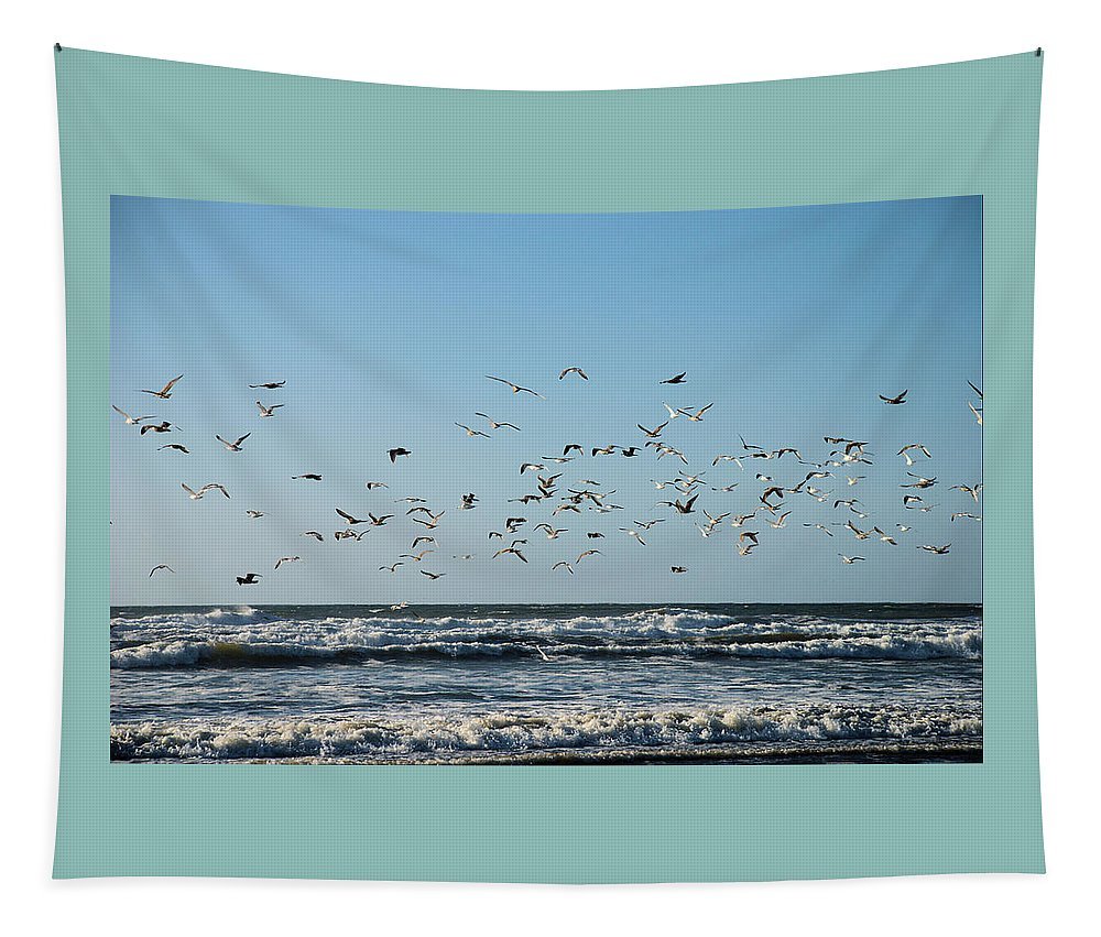 Flight Tapestry featuring the photograph Flight by Michael Merry