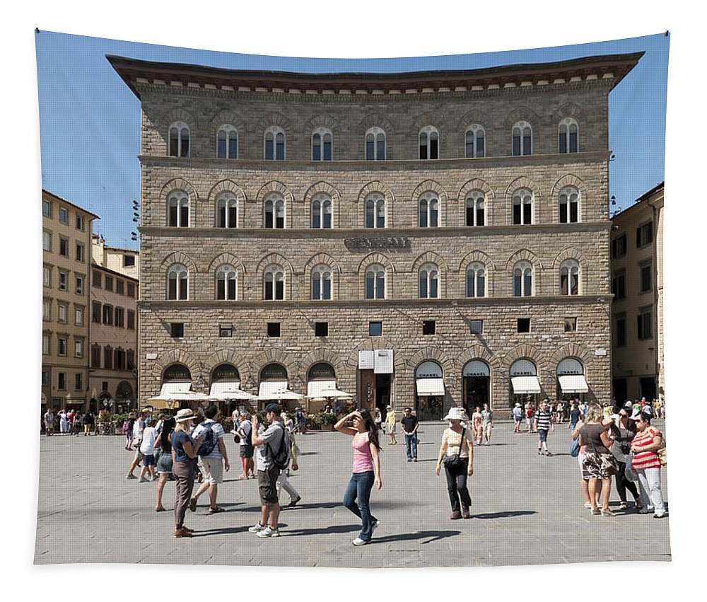 Florence Tapestry featuring the photograph Florence Piazza Della Signoria by Matthias Hauser