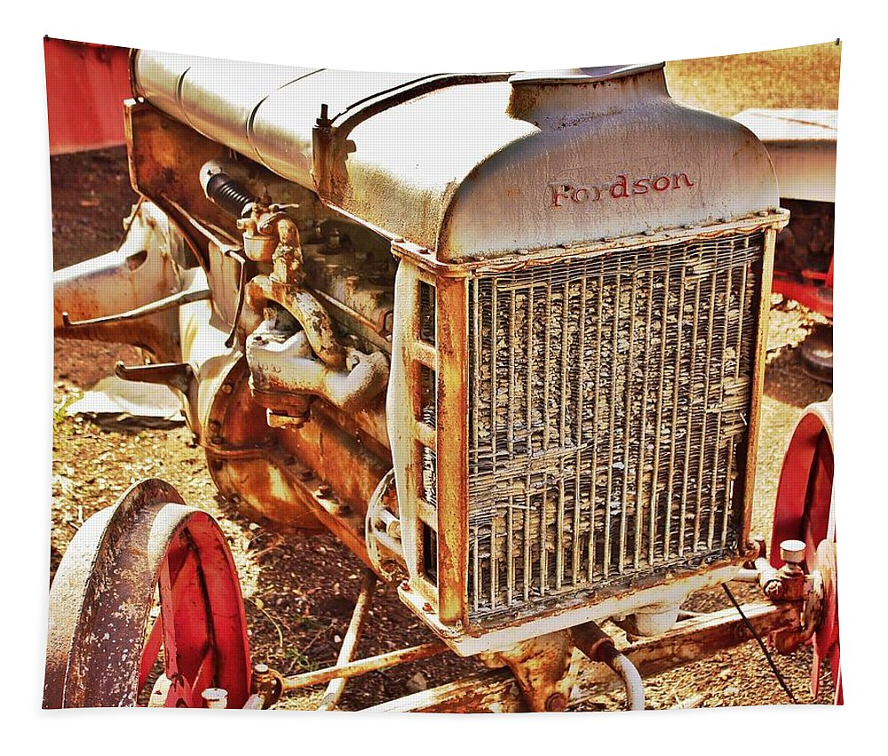 Farm Equipment Tapestry featuring the photograph Fordson Tractor by Bill Owen