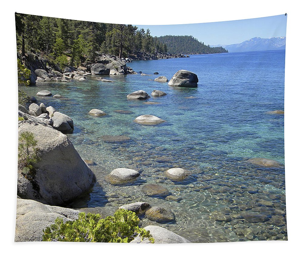 Lake Tahoe Tapestry featuring the photograph Forested Shores Of Lake Tahoe by Frank Wilson