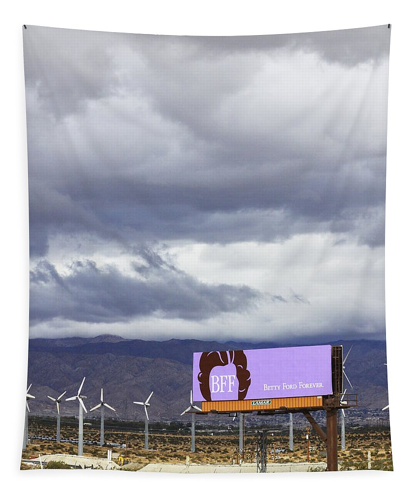 Windmills Tapestry featuring the photograph Forever Palm Springs by William Dey