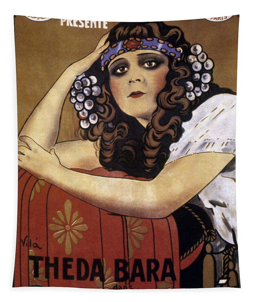 -nec02- Tapestry featuring the photograph French Poster: Salome, 1918 by Granger