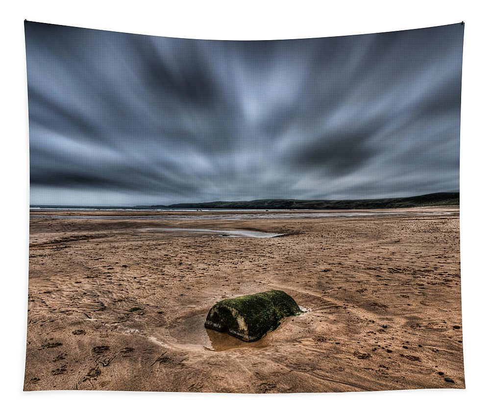 Freshwater West Tapestry featuring the photograph Freshwater West Blur by Steve Purnell