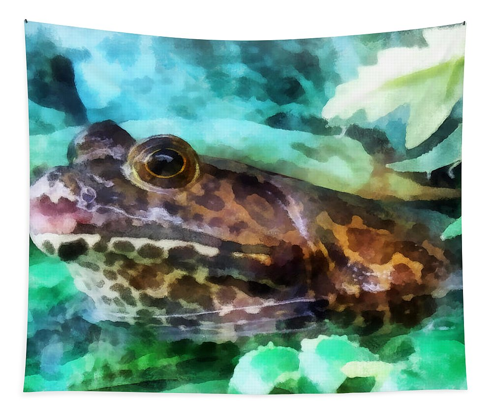 Frog Tapestry featuring the photograph Frog Ready To Be Kissed by Susan Savad