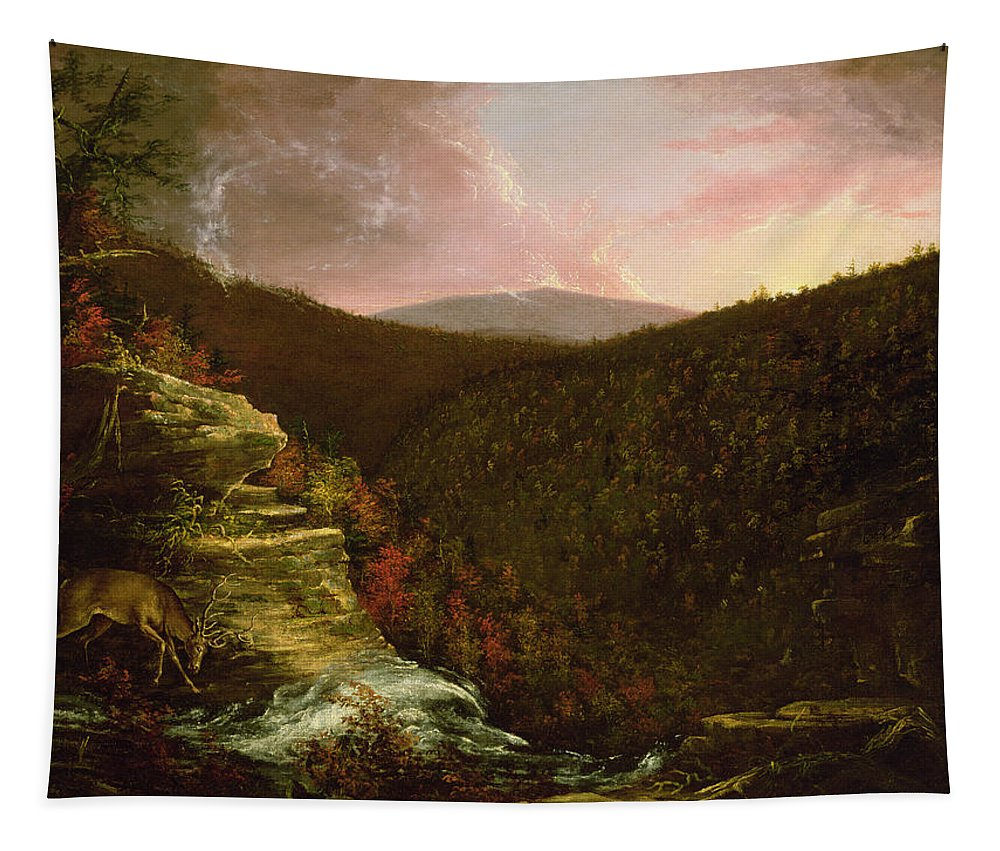 From Tapestry featuring the painting From The Top Of Kaaterskill Falls by Thomas Cole