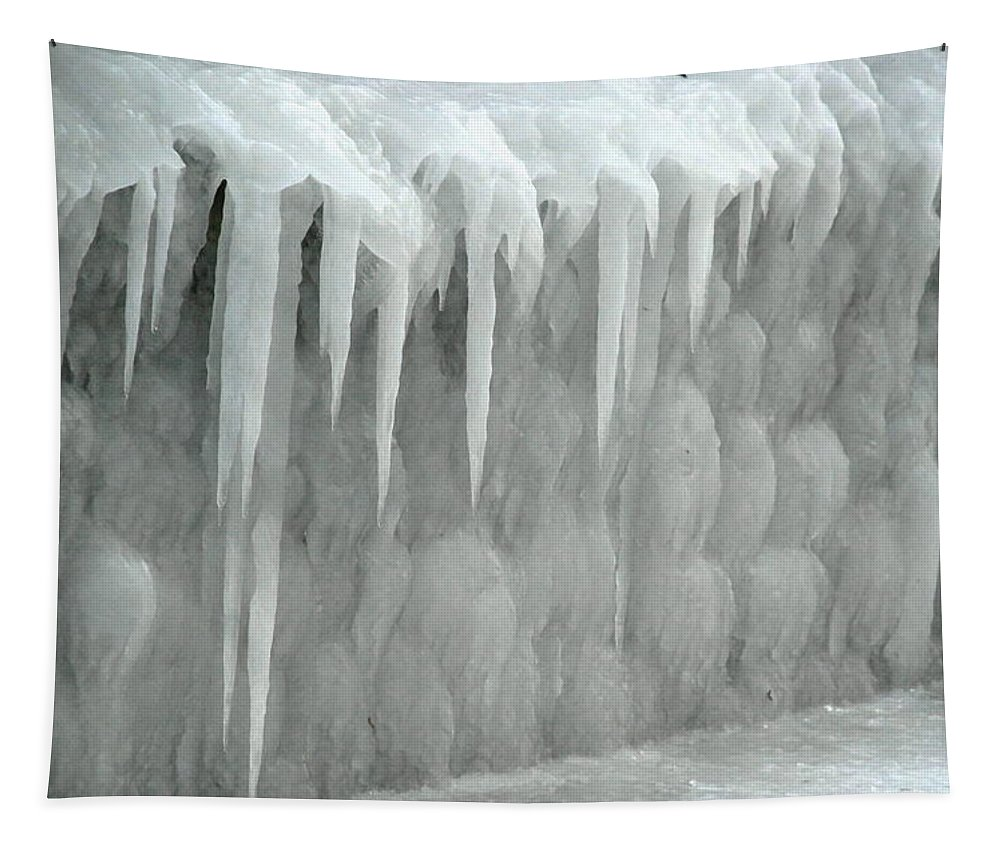 Ice Tapestry featuring the photograph Frozen Deck by Richard Bryce and Family
