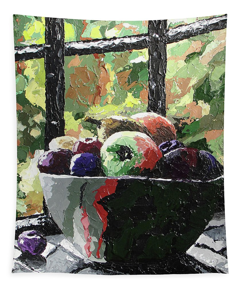 Fruit Tapestry featuring the painting Fruit In Autumn by Ricklene Wren