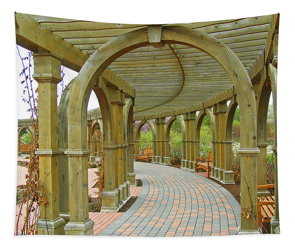 Arch Tapestry featuring the photograph Garden Walkway by Tikvah's Hope