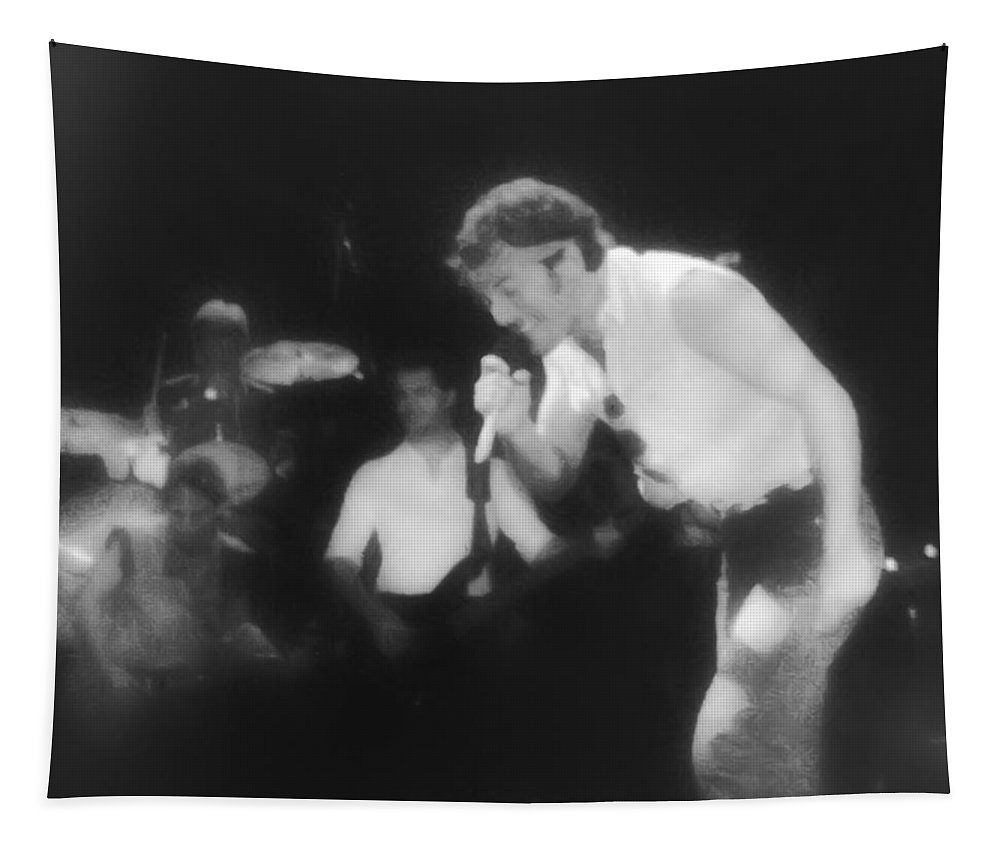 Bruce Springsteen Tapestry featuring the photograph Glory Days - Bruce Springsteen by Bill Cannon