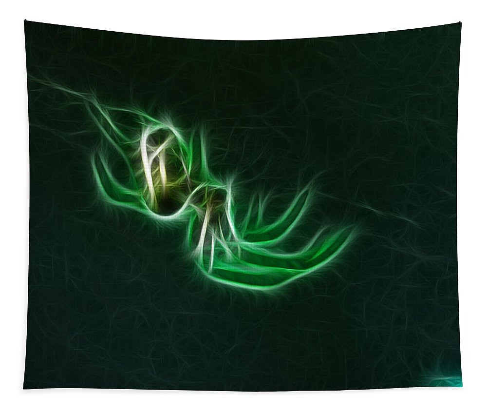 Fantasy Art Tapestry featuring the photograph Glowing Spider by Paul Ward