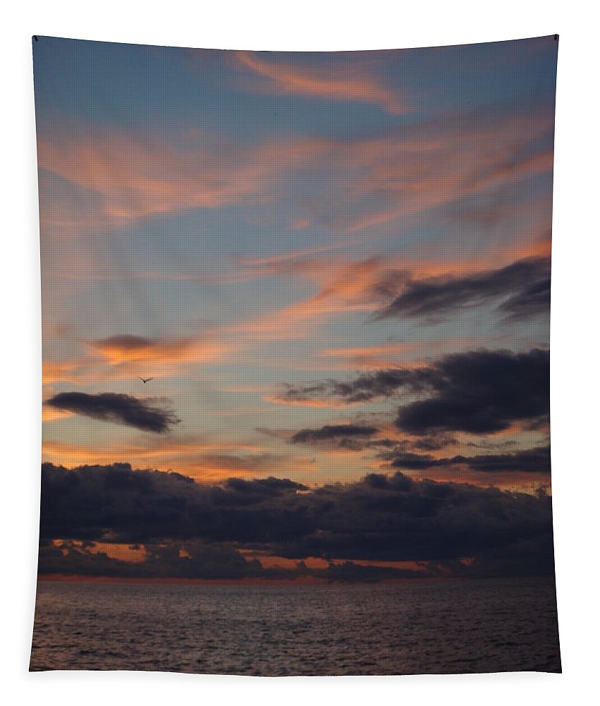 Lake Superior Tapestry featuring the photograph God's Evening Painting by Bonfire Photography