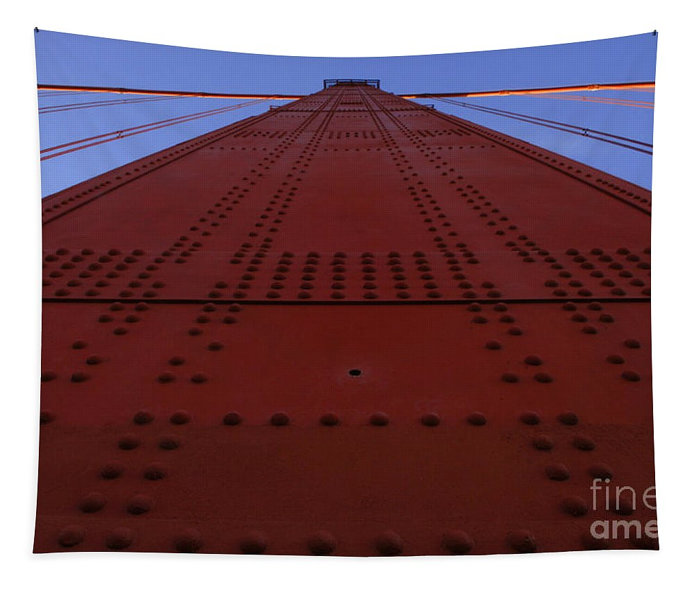 Golden Gate Tapestry featuring the photograph Golden Gate Bridge Vertical by Bob Christopher