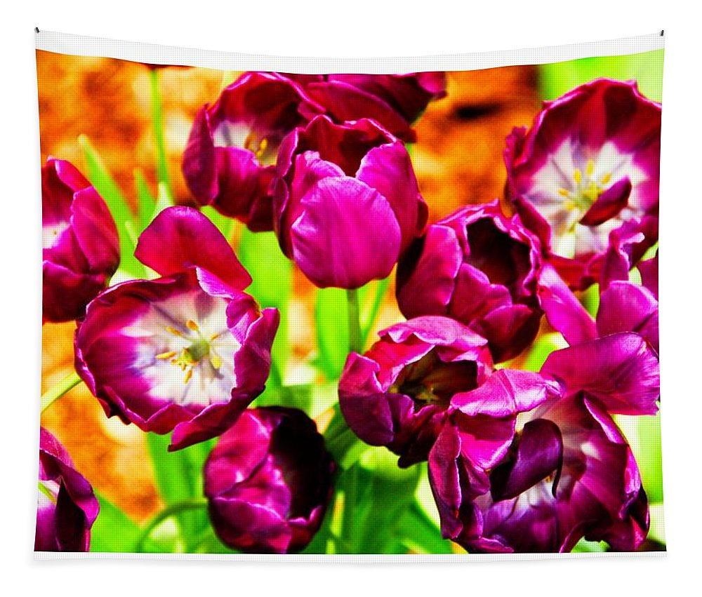 Tulips Floral Art Color Tapestry featuring the photograph Gorgeous Tulips by Alice Gipson