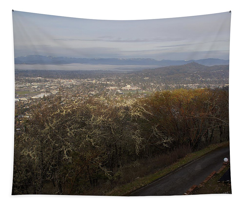 Grants Pass Tapestry featuring the photograph Grants Pass From The Hill Top by Mick Anderson