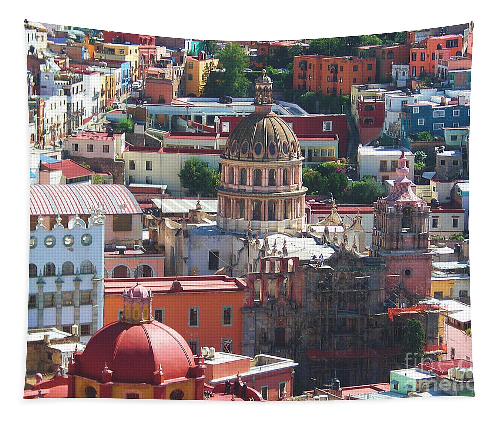Guanajuato Tapestry featuring the photograph Guanajuato City Central by John Kolenberg