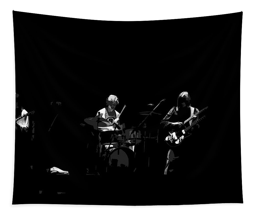 Genesis Tapestry featuring the photograph Hackett And Bruford And Rutherford by Ben Upham