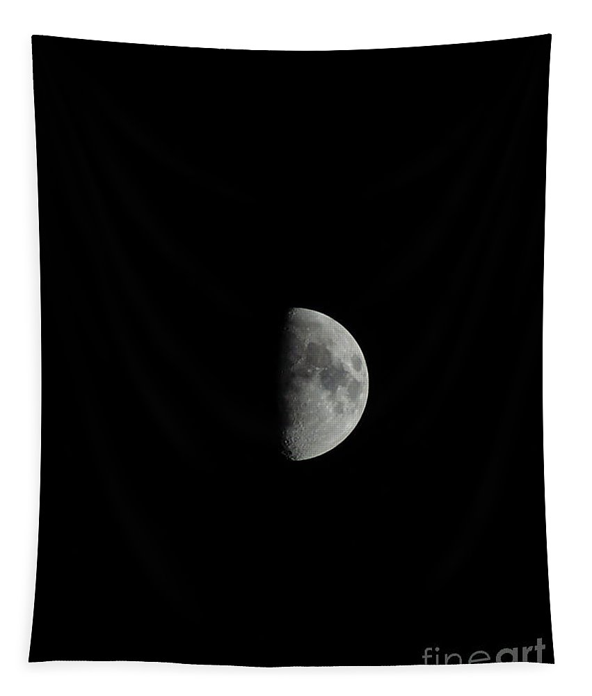 Half Moon Tapestry featuring the photograph Half Moon by Paul Wilford