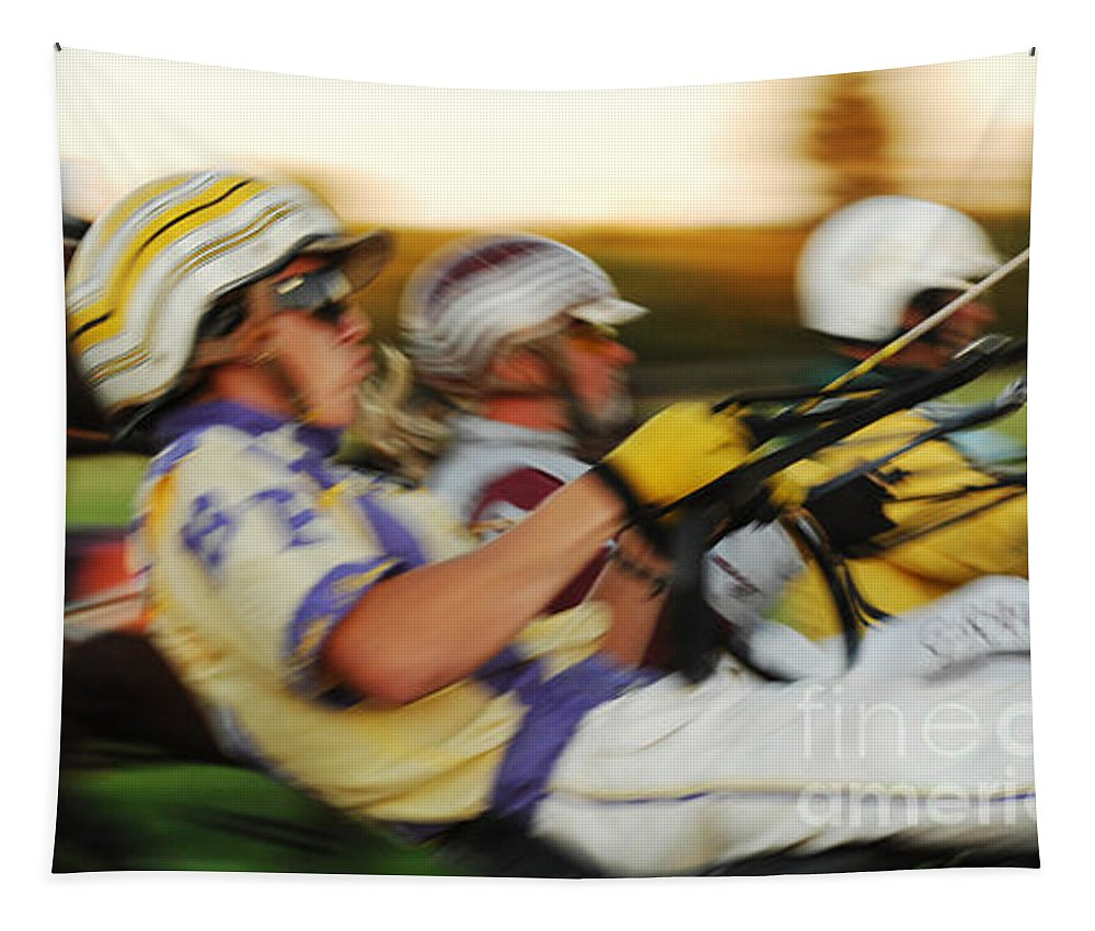 Harness Racing Tapestry featuring the photograph Harness Racing 13 by Bob Christopher