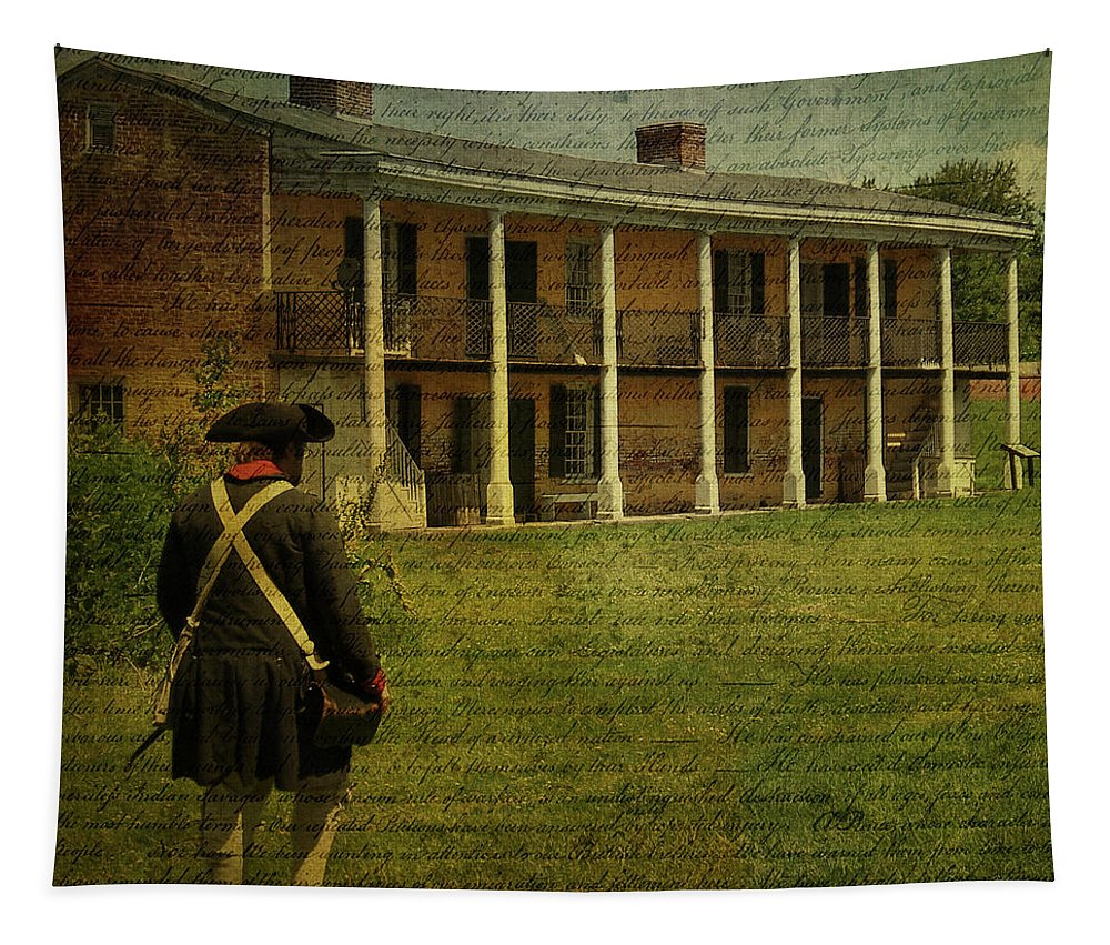 Soldier Tapestry featuring the photograph Haunting by Trish Tritz