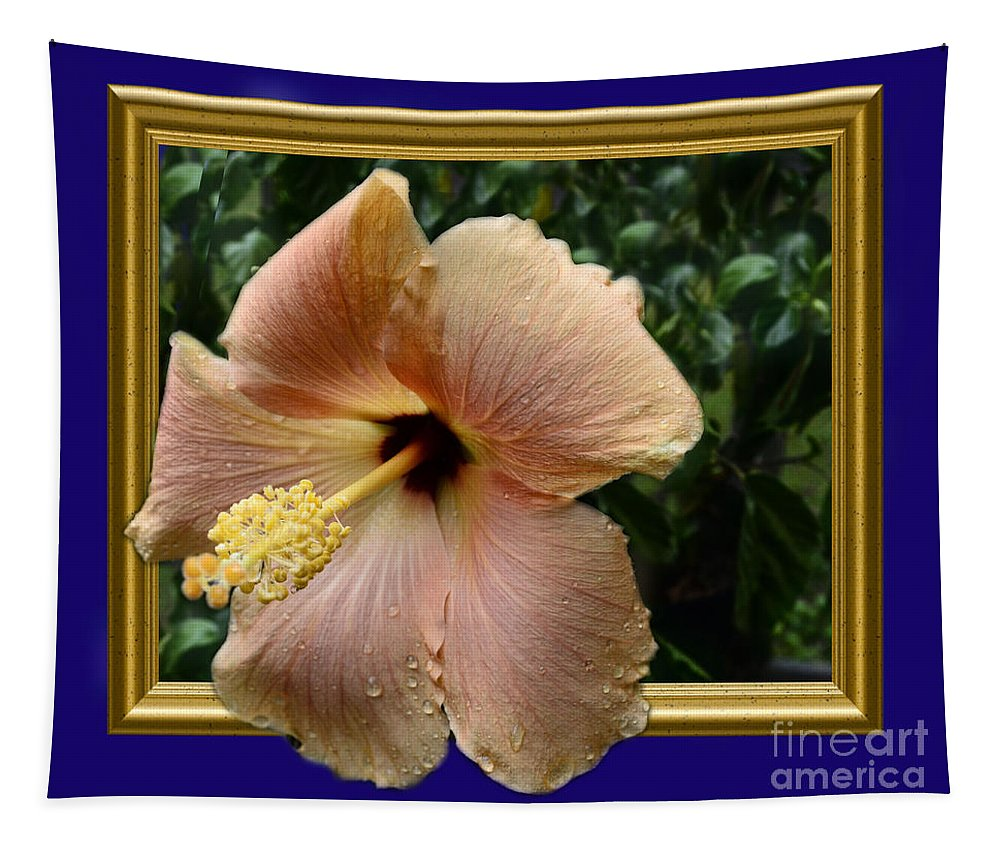 Plant Tapestry featuring the photograph Hibiscus Beauty 3d by Donna Brown