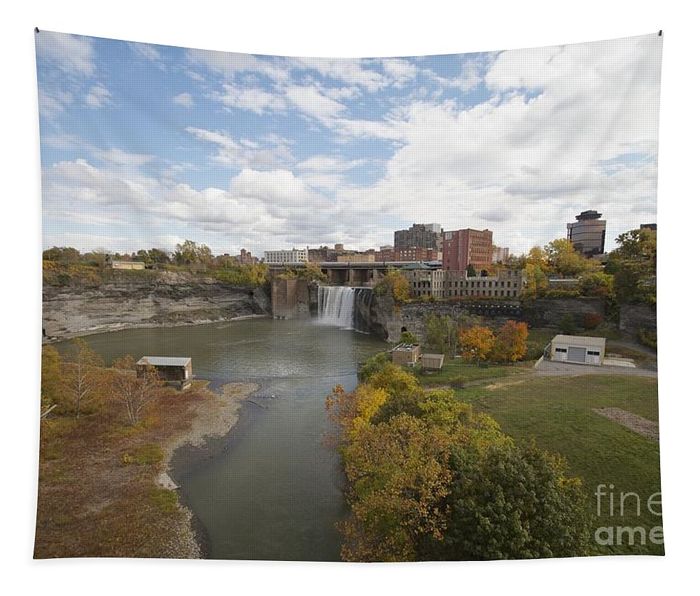 Landscape Tapestry featuring the photograph High Falls by William Norton