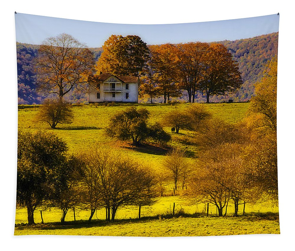 Landscape Tapestry featuring the photograph High On A Hill by Kathleen K Parker