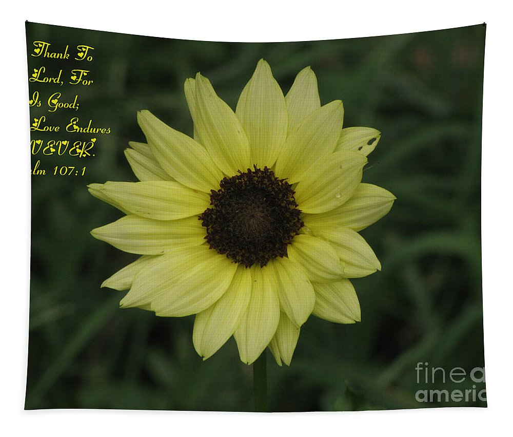 Flower Tapestry featuring the photograph His Love Endures Forever by Donna Brown