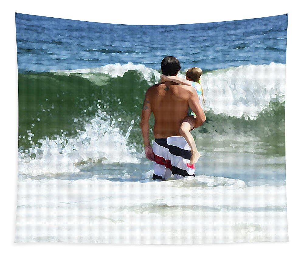 Ocean Tapestry featuring the photograph Holding On by Maureen E Ritter