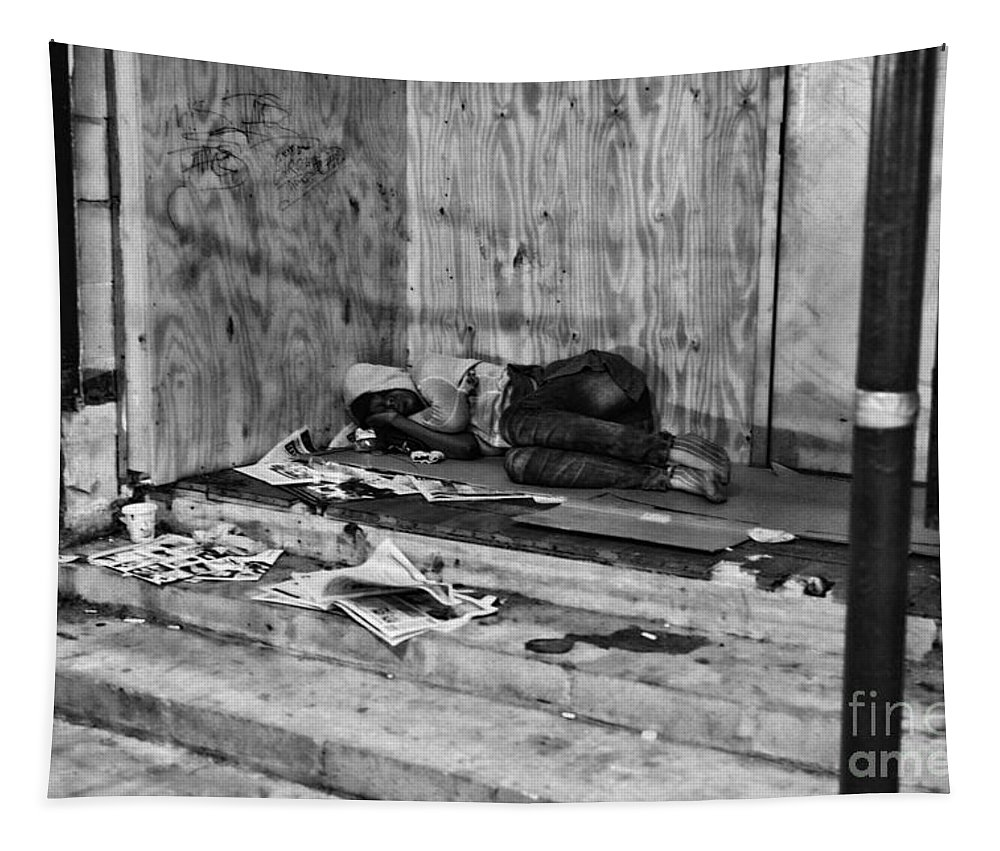 Homeless Tapestry featuring the photograph Homeless by Paul Ward