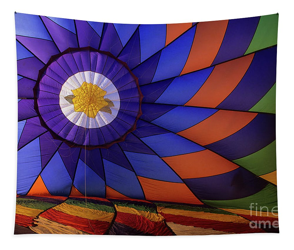 Interior Of Balloon Tapestry featuring the photograph Hot Air Balloon 13 by Bob Christopher