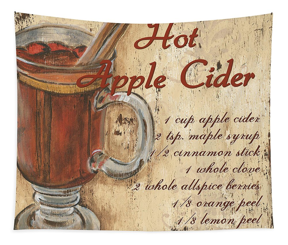 Hot Apple Cider Tapestry featuring the painting Hot Apple Cider by Debbie DeWitt