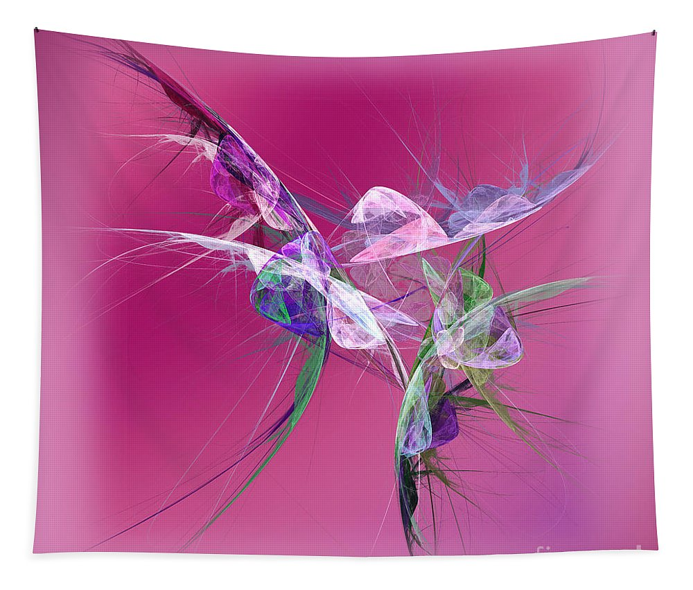 Abstract Tapestry featuring the digital art Hummingbird Fantasy Abstract by Andee Design